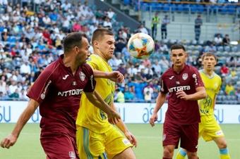 Cluj devient le premier club à bénéficier du changement de règle avec les buts à l'extérieur. Astana