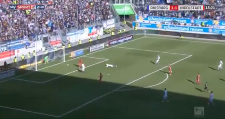 Lance do gol do Ingolstadt. Twitter
