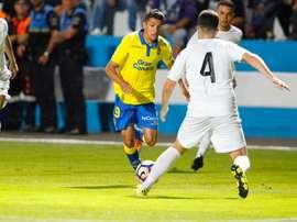 Lance del partido entre Las Palmas y el Orotava. UDLP