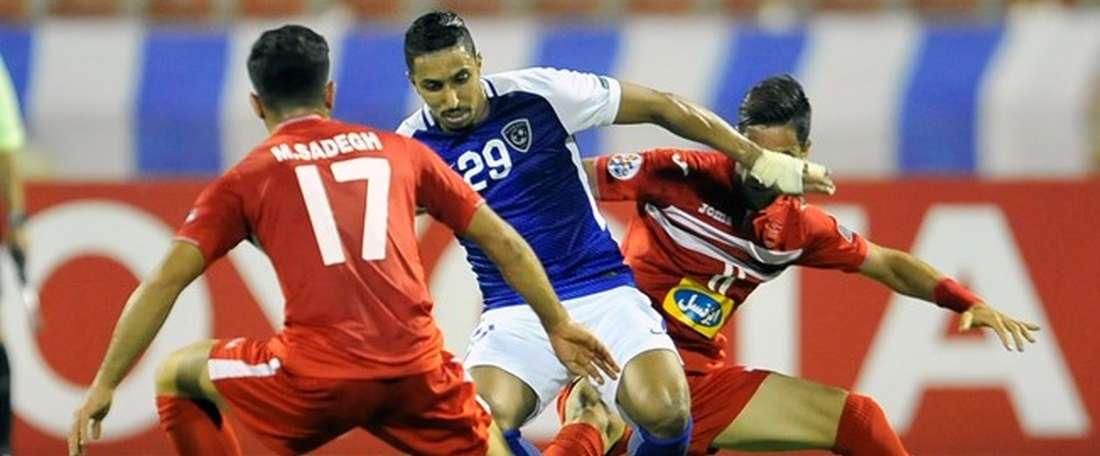 Lance del partido entre Persépolis y Al-Hilal en la Champions de la AFC. AFP