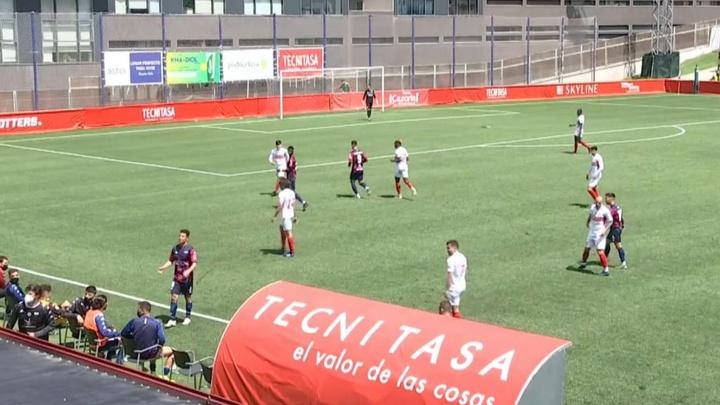 El Sanse goleó al Extremadura. Captura/Footters