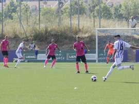 Reparto de puntos entre Valladolid B y Sanse. Twitter/realvalladolid