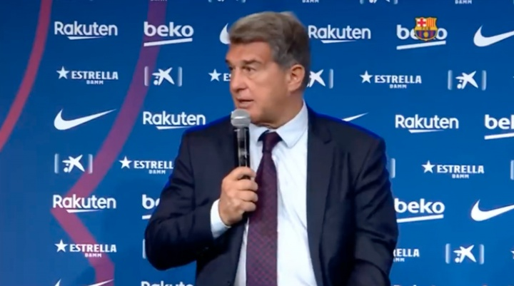 Laporta s'exprime sur le futur de Koeman. Capture/BarçaTV
