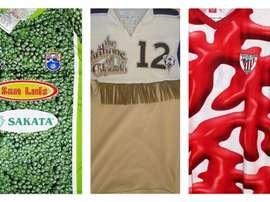 Algunas de la camisetas más feas de la historia del fútbol.