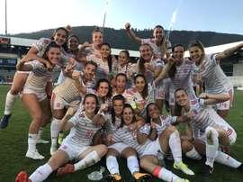 España ha logrado su quinta final consecutiva en el Europeo Sub 19 Femenino. Twitter/SeFutbol