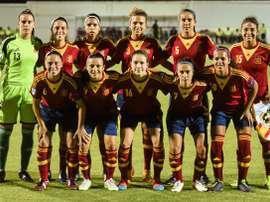 Las integrantes de la Selección Sub 19 Femenina. RFEF