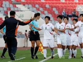 Las jugadoras de Corea del Norte Sub 17 no dieron señales de marcas deportivas. FIFA