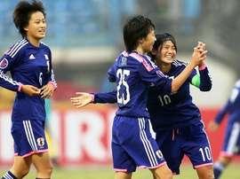 Las jugadoras de Japón celebran un gol logrado en el pasado Mundial Sub 17 en Costa Rica. FIFA