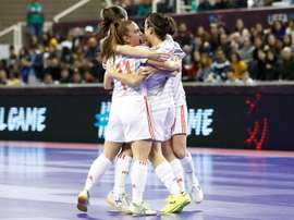 Final ibérica na final do Europeu de futsal feminino. Twitter/SeFutbolFem
