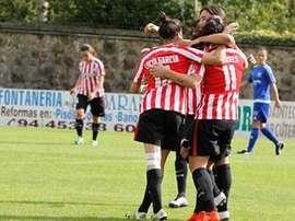El Athletic goleó en el partido aplazado. EFE