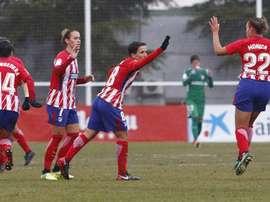 El Atlético remontó ante el Albacete. AtletiFemenino