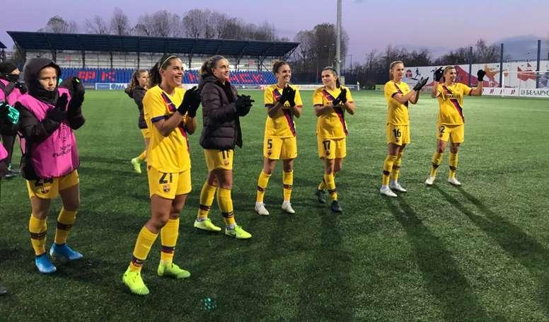 El Barça cumple en Minsk y pasa a cuartos. FCBFemení