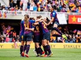 Barcelona will meet Lyon in the final in Budapest. Twitter/FCBfemeni