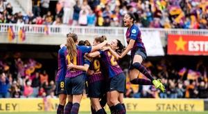 Confirmados times do novo Campeonato Espanhol Feminino. Twitter/FCBfemeni