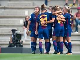 Las chicas del Barça ya están en cuartos tras golear al Gintra-Universitetas. FCBFemení