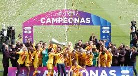 El Barça Femenino se convirtió en el primer Supercampeón de España. Twitter/RFEF
