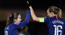 Chelsea, premier club à adapter l'entraînement au cycle menstruel. Twitter/MagdalenaEriksson