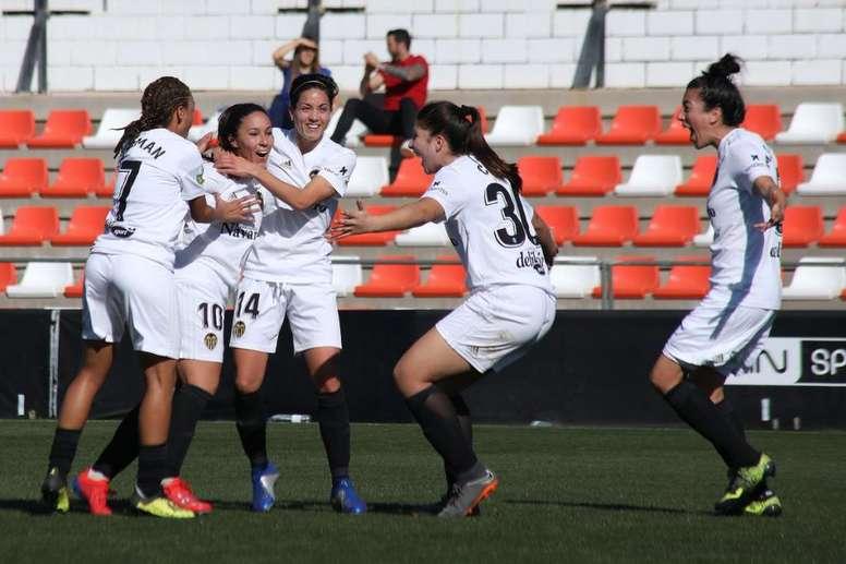 El Valencia femenino, enchufado. Twitter/VCFFemenino