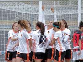 Mari Paz Vilas anotó un doblete. ValenciaCFFemenino