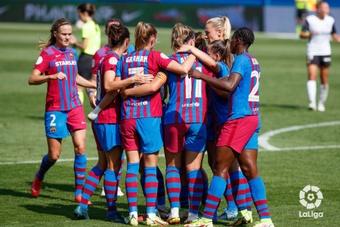 El FC Barcelona Femenino marcó ocho goles al Valencia. LaLiga