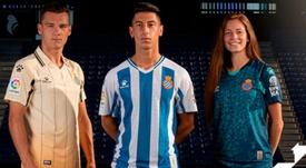 El Espanyol presentó sus nuevas equipaciones. Twitter/RCDEspanyol