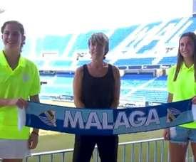 Ambas jugadoras llegan procedentes del Betis Femenino. Captura/MálagaCF