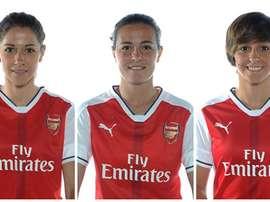 Las tres futbolistas españolas que abandonarán el Arsenal Ladies al final de esta temporada: Vicky Losada, Natalia Pablos y Marta Corredera. Arsenal