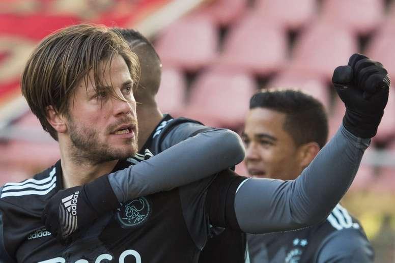 Lasse Schöne casi duplica la efectividad de Leo Messi. AFCAjax
