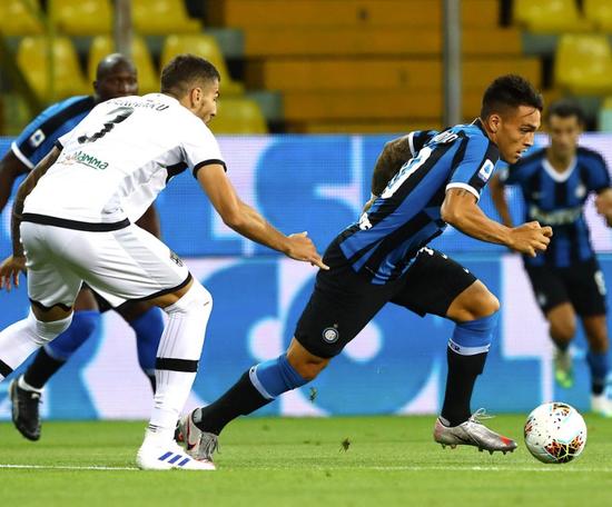 Inter de Milão teve virada surpreendente contra o Parma. Twitter/Inter_es