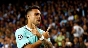 Barcelona and City's interest in Lautaro Martinez force Inter to react. EFE