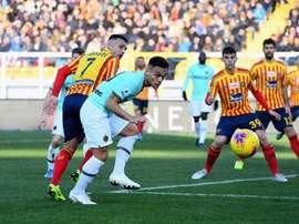 El Lecce se le atraganta al Inter. Twitter/Inter