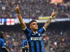Manchester City cible aussi Lautaro Martinez. Twitter/Inter