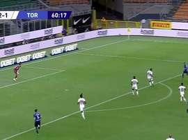 Golazo de Lautaro para redimirse y segunda asistencia de Alexis. Captura/Movistar+