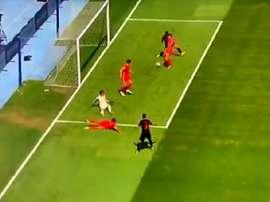 Croatia took the lead against Wales. Captura/BeMad