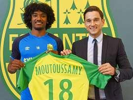 Le FC Nantes annonce la prolongation de Samuel Moutoussamy. FCNantes
