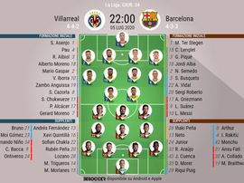 Le formazioni di Villarreal-Barcellona. BeSoccer