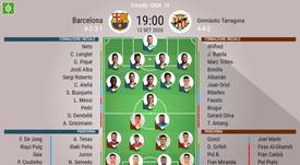 Le formazioni ufficiali di Barcellona-Nastic. BeSoccer