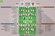 Le formazioni ufficiali di Inter-Torino. BeSoccer