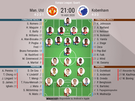 Compos officielles : Manchester United - Copenhague. besoccer