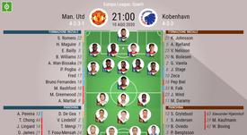 Le formazioni ufficiali di Manchester United-Copenhagen. BeSoccer