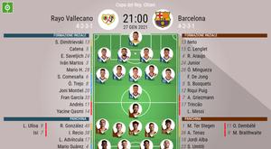 Le formazioni ufficiali di Rayo Vallecano-Barcellona. BeSoccer