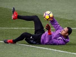 A solução para a baliza do Real Madrid poderia estar nas categorias de base. AFP