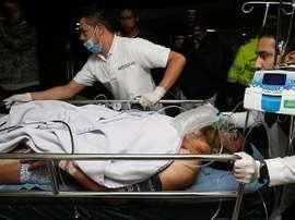 Le joueur a survécu à l'accident