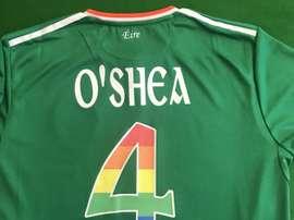 Le maillot spécial de l'Irlande face aux USA. Twitter/FAIreland