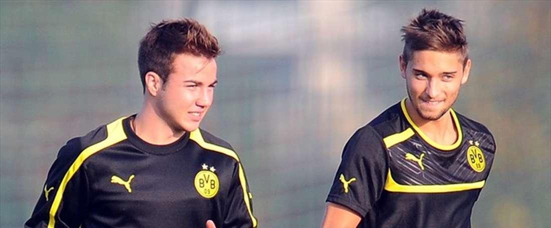 Le milieu de terrain Moritz Leitner de Dortmund file à Rome. UEFA