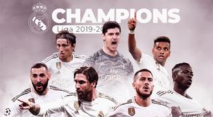 Le Real Madrid est champion d'Espagne 19-20. BeSoccer