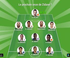 Le super-onze de Zidane. BeSoccer