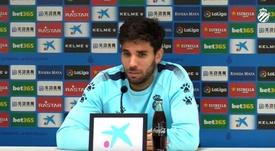 Cabrera ve a un Espanyol distinto con Abelardo. Captura/RCDEspanyol