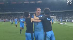 Chelsea foi derrotado pelo Kawasaki Frontale com gol de Leandro Damião. Captura/DAZN