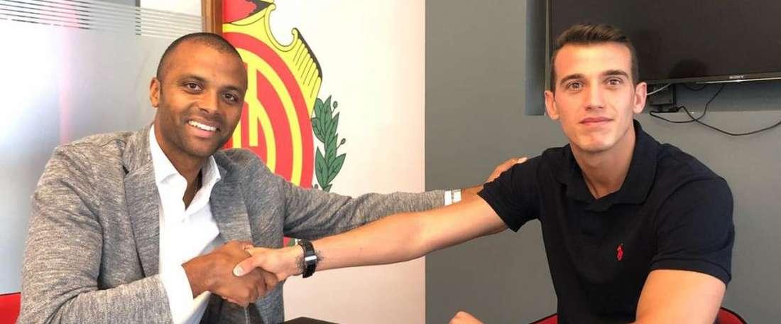 Leandro Montagud, nuevo jugador del Mallorca. Twitter/RCD_Mallorca